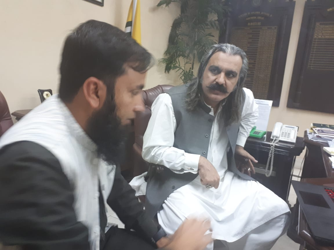 Meeting with Minister Ali Amin Gandapur