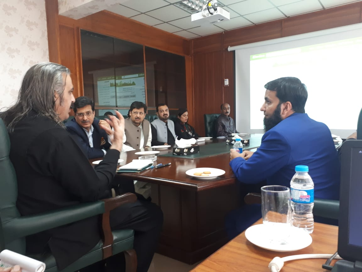 Meeting with Minister Ali Amin Gandapur and his team